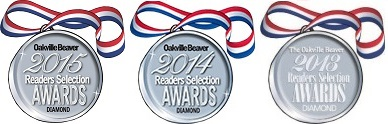 Oakville Beaver Readers Selection Diamond Award - 2015, 2014 and 2013!